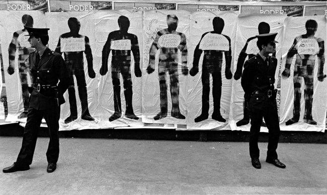 Eduardo Gil (Argentinian, b. 1948). 'Siluetas y canas' (Silhouettes and cops) September 21-22, 1983