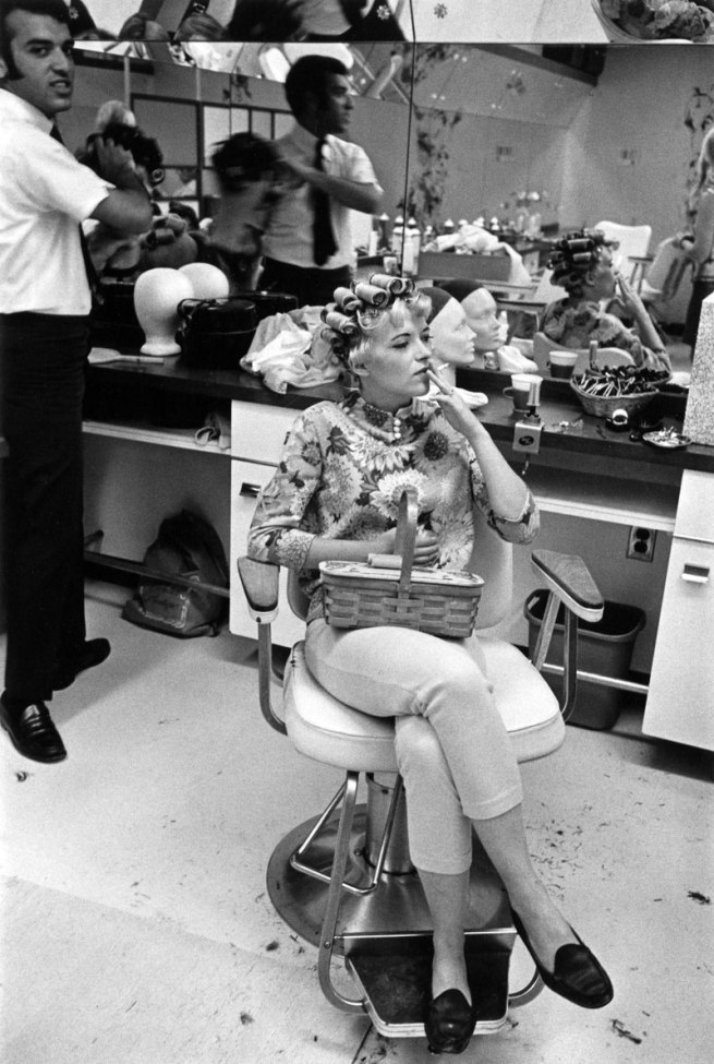 Enrico Natali. 'Beauty salon client smoking, Detroit, 1968' 1968