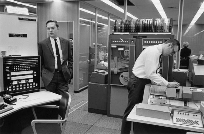 Enrico Natali. 'Computer room, Detroit, 1968' 1968