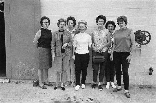Enrico Natali. 'Detroit Bolt and Nut Company workers, Detroit, 1968' 1968
