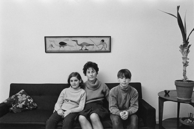 Enrico Natali. 'Ann Davis at home with her daughter and son, Detroit, 1968' 1968