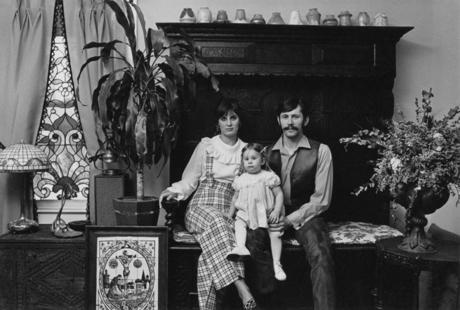Enrico Natali. 'Couple at home with their daughter, Detroit, 1968' 1968