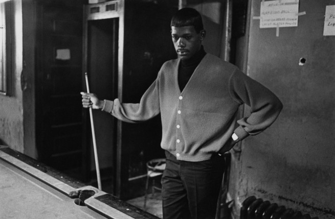 Enrico Natali. 'Pool player in an east side poolroom, Detroit, 1968' 1968