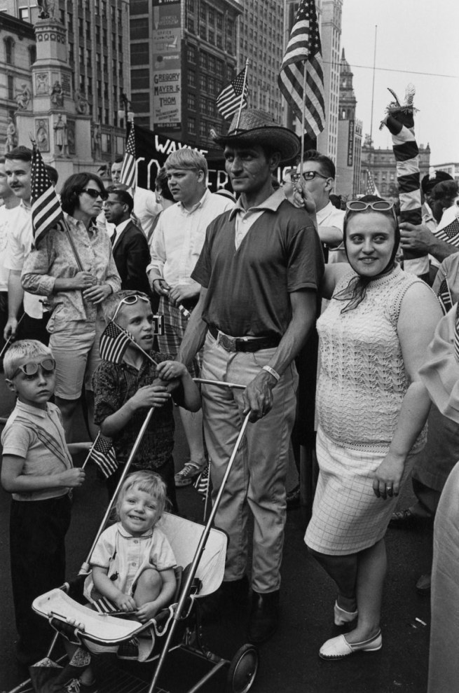Enrico Natali. 'Spectators at an Armed Forces Day parade, Detroit, 1968' 1968