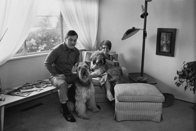 Enrico Natali. 'Jim and Judy Yardley with their dogs, Sport and Barney, Detroit, 1968' 1968