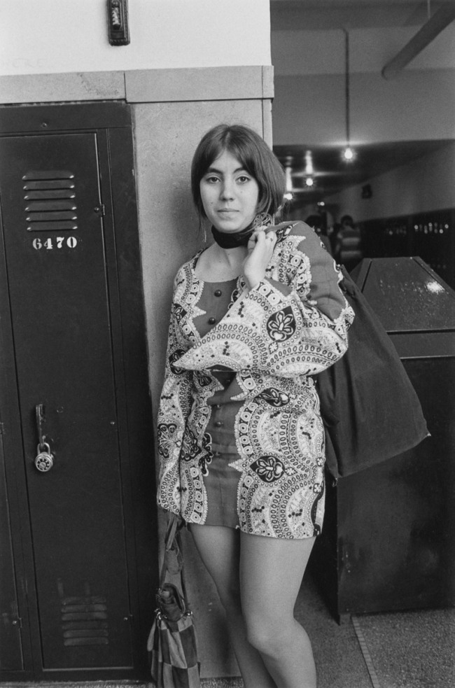 Enrico Natali. 'High school student in mini dress, Detroit, 1968' 1968