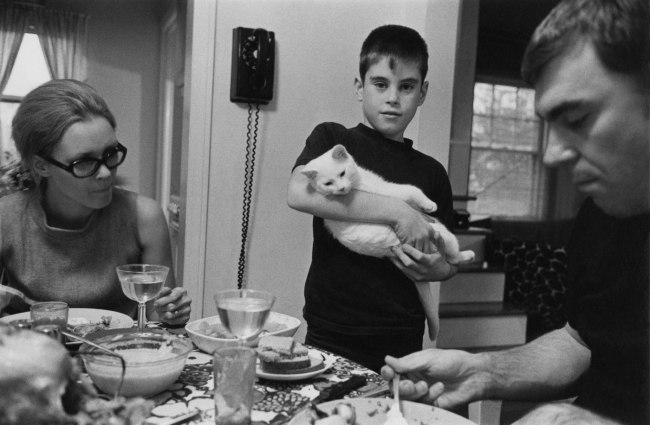 Enrico Natali. 'Dean Turner with his parents and cat, Detroit, 1968' 1968