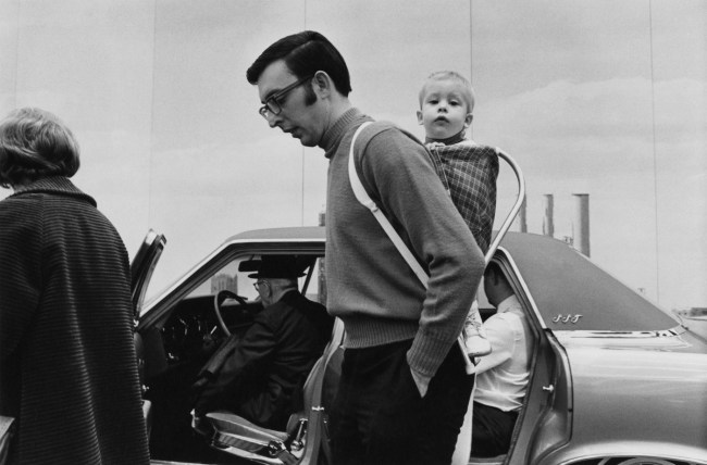 Enrico Natali. 'Father and child at the Detroit Auto Show, Detroit, 1968' 1968