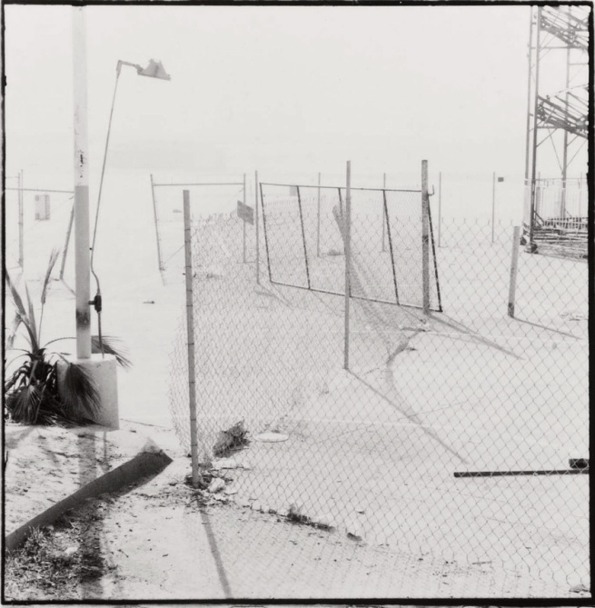 Judy Fiskin (born Chicago, IL 1945) 'Long Beach Pike (broken fence)', from the 'Long Beach, California Documentary Survey Project' 1980