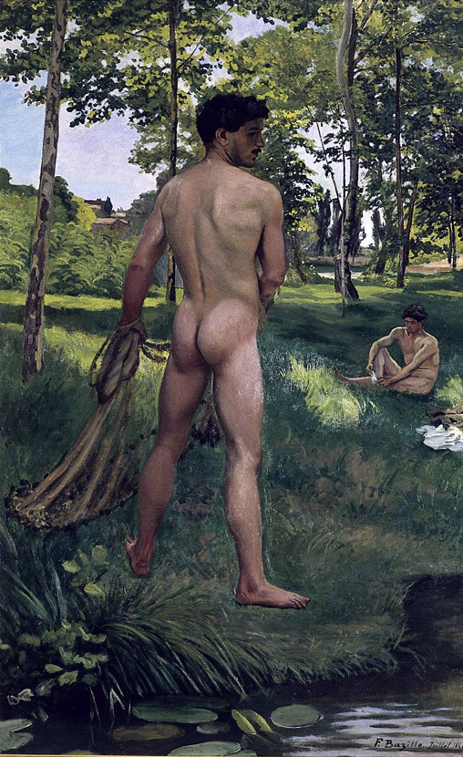 Frédéric Bazille (1841-1870) 'Fisherman with a Net' 1868