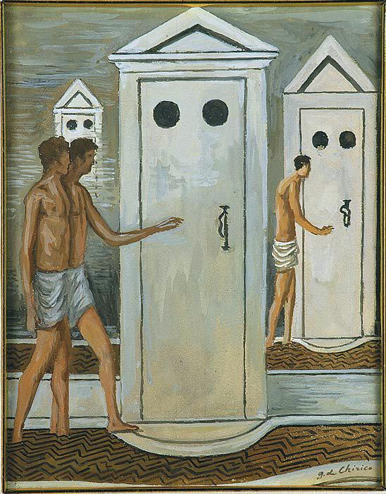 Giorgio de Chirico (1883-1966) 'Les bains mystérieux' (Mysterious Baths) c. 1934-36