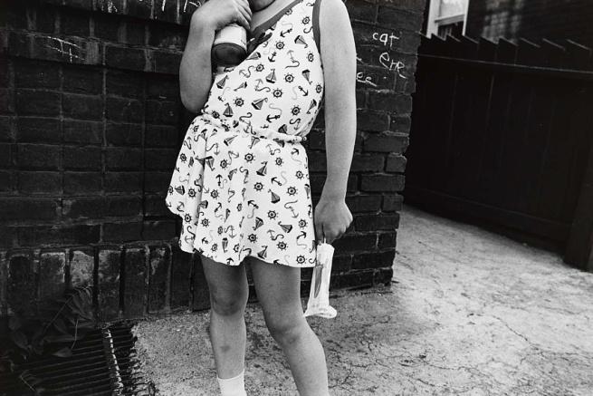Mark Cohen. 'Girl Holding Popsicle' 1972, printed 1983
