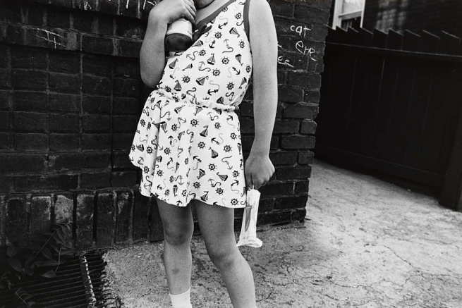 Mark Cohen (born Wilkes-Barre, PA 1943) 'Girl Holding Popsicle' 1972, printed 1983