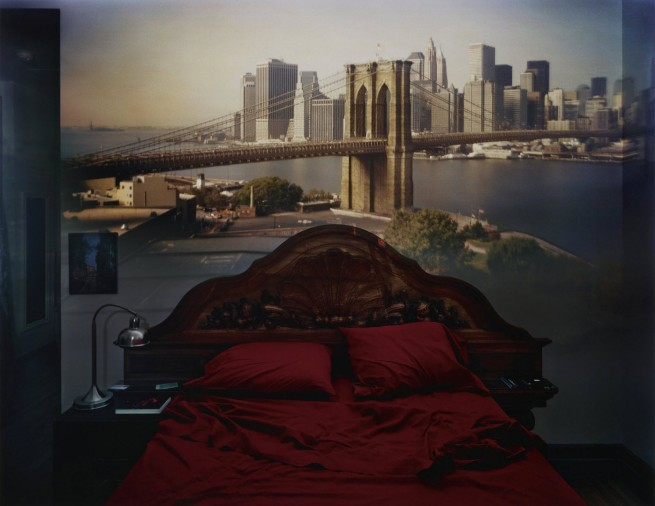 Abelardo Morell. 'Camera Obscura: View of the Brooklyn Bridge in Bedroom' 2009