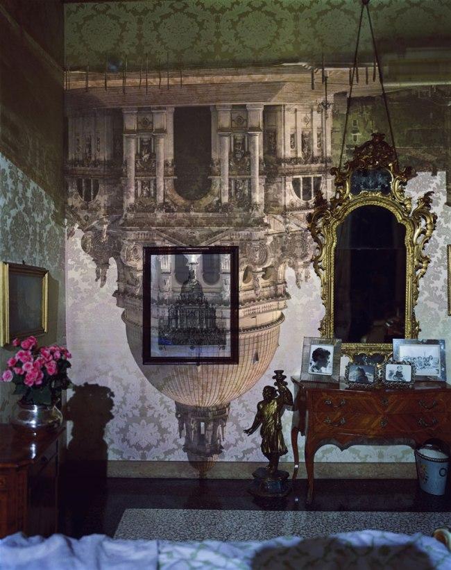 Abelardo Morell. 'Camera Obscura Image of Santa Maria della Salute in Palazzo Bedroom, Venice, Italy' 2006