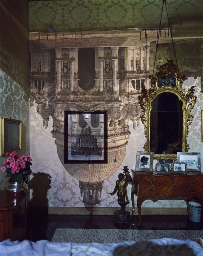 Abelardo Morell (American, born Cuba, 1948) 'Camera Obscura Image of Santa Maria della Salute in Palazzo Bedroom, Venice, Italy' 2006