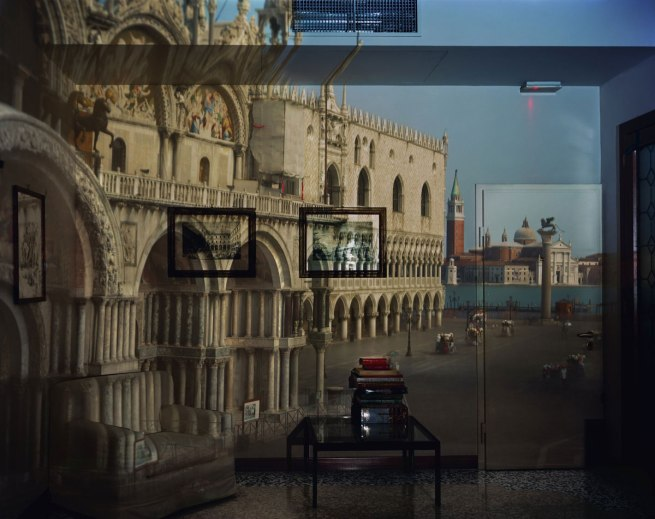 Abelardo Morell. 'Upright Camera Obscura Image of the Piazzeta San Marco Looking Southeast in Office' 2007