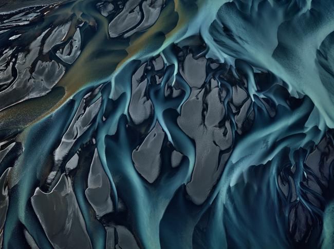 Edward Burtynsky. 'Thjorsá River #1, Iceland' 2012