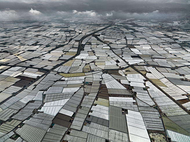 Edward Burtynsky. 'Greenhouses, Almira Peninsula, Spain' 2010