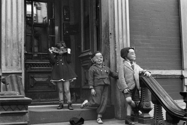 Helen Levitt (born New York City 1913 - died New York City 2009) 'New York' c. 1942, printed later