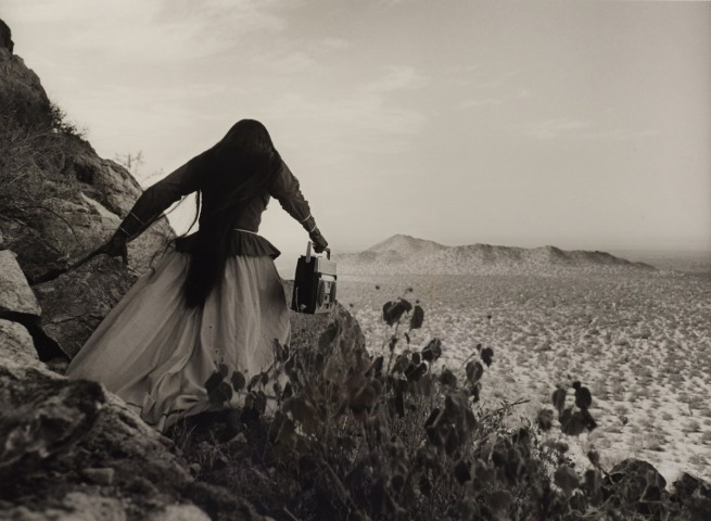 Graciela Iturbide (Born 1942, Mexico City; lives and works in Coyoacán, Mexico) 'Mujer ángel, Desierto de Sonora, México' (Angel woman, Sonora Desert, Mexico) 1979 (printed later)