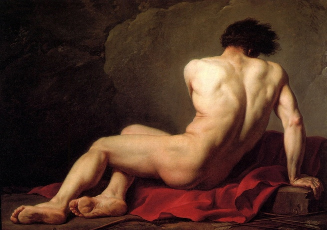 Jacques Louis David (1748-1825) 'Academy Drawing of a Man, said to be Patroclu' 1778