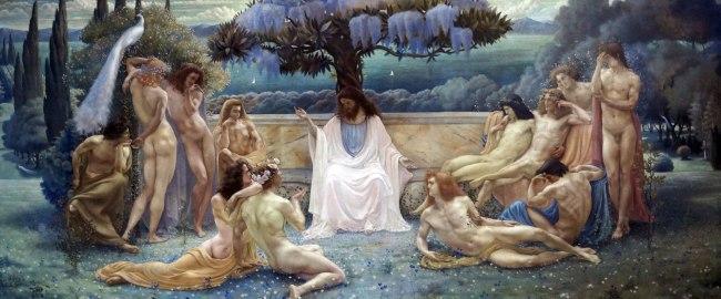 Jean Delville (1867-1953) 'École de Platon' (School of Plato) 1898