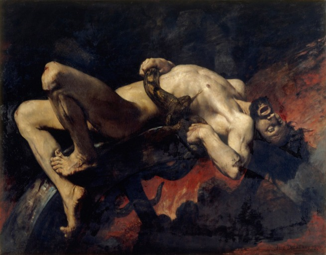 Jules Elie Delaunay. 'Ixion Thrown Into the Flames' 1876