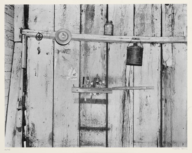 Walker Evans. 'Kitchen Wall, Alabama Farmstead' 1936, printed 1974
