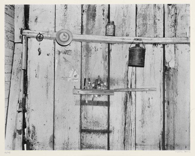 Walker Evans. 'Kitchen Wall, Alabama Farmstead' 1936, printed 1974