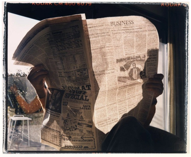 Larry Sultan (born New York City 1946 - died Greenbrae, CA 2009) 'Portrait of My Father with Newspaper' 1988