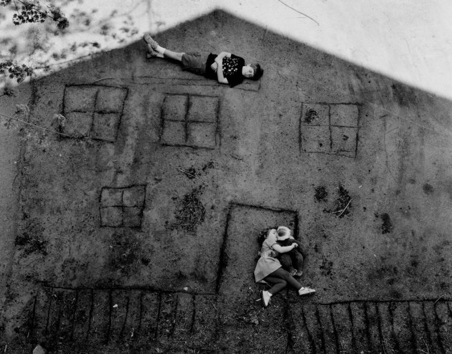 Abelardo Morell (American, born Cuba, 1948) 'Laura and Brady in the Shadow of Our House' 1994