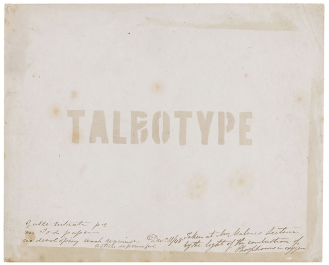 Thomas Augustine Malone (British, 1823-1867) 'Demonstration of the Talbotype' December 11, 1848