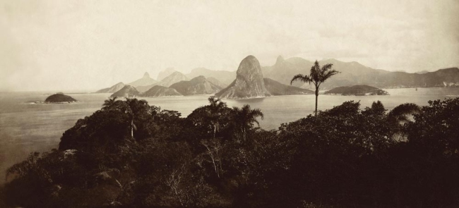 Marc Ferrez (Brazilian, 1843-1923) 'Entrance to Guanabara Bay' c. 1885
