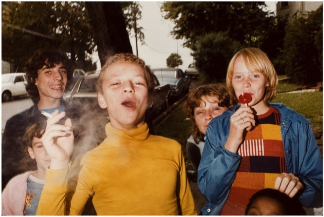 Mark Cohen (b. 1943) 'Boy in Yellow Shirt Smoking' 1977