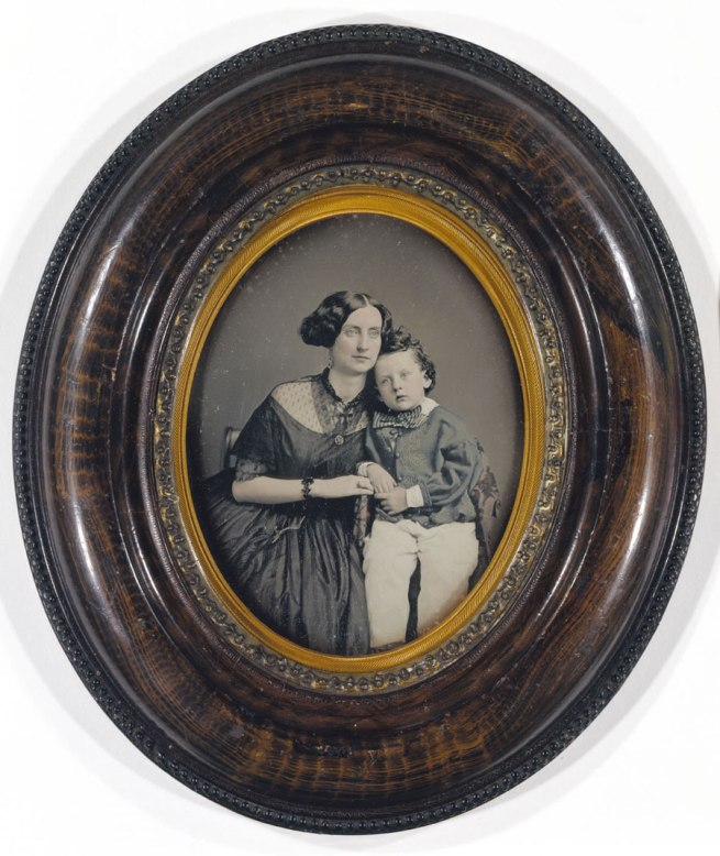 Unidentified artist. 'Mother and Son' c. 1855