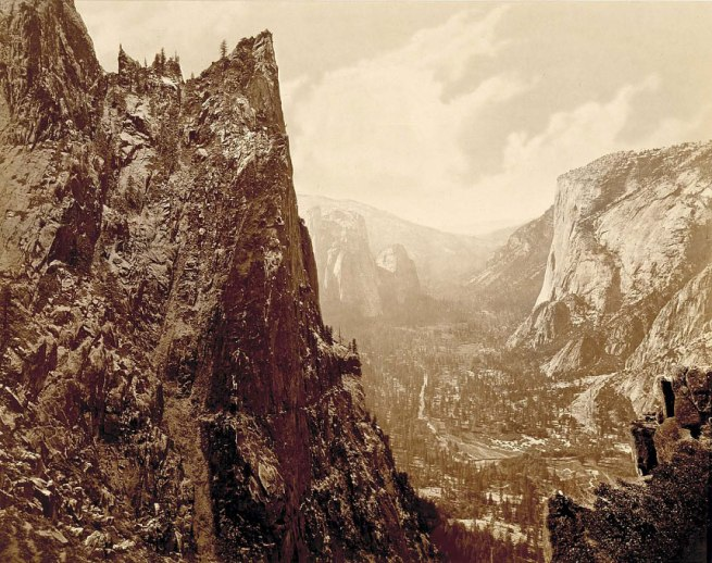 Eadweard Muybridge (born Kingston-upon-Thames, England 1830 - died Kingston-upon-Thames, England 1904) 'Valley of the Yosemite from Union Point' 1872