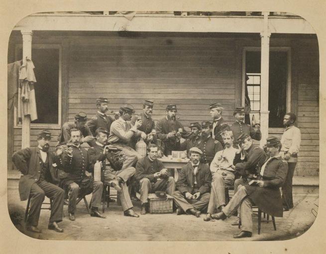 Egbert Guy Fowx. 'New York 7th Regiment Officers' c. 1863