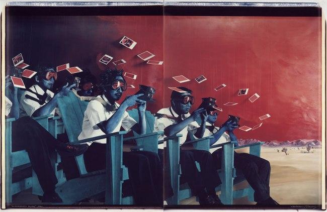 Patrick Nagatani (b. 1945) and Andree Tracey (b.1948) 'Alamogordo Blues' 1986