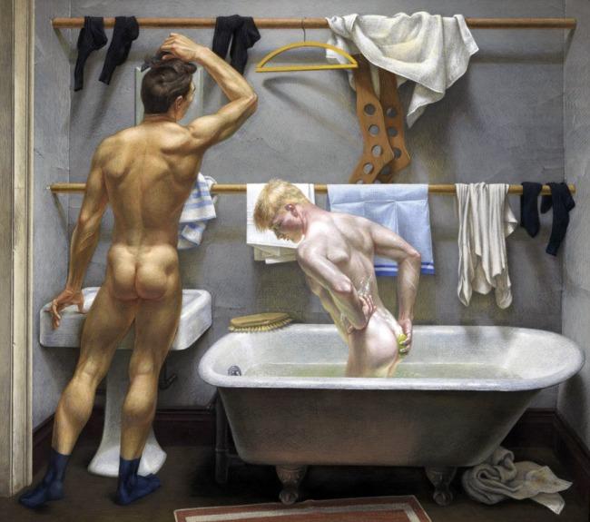 Paul Cadmus (1904-1999) 'The Bath' 1951