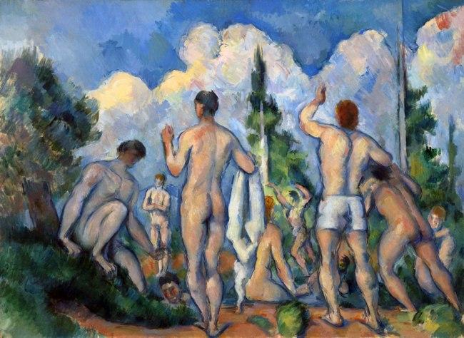 Paul Cézanne. 'Baigneurs' (Bathers) 1890