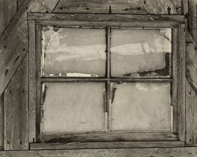 Paul Strand (American, 1890-1976) 'Barn Window and Ice, East Jamaica, Vermont' 1943