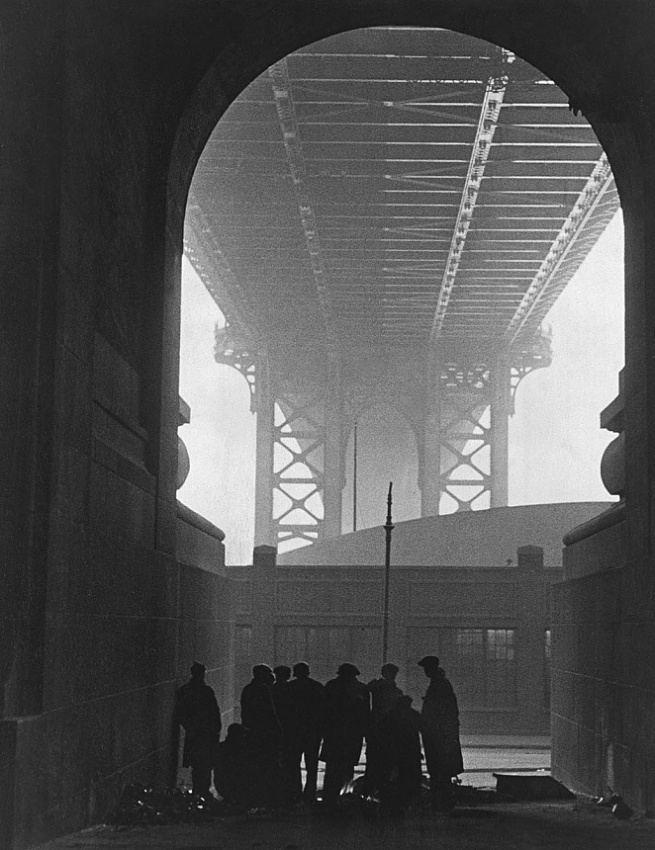Robert Disraeli (born Cologne, Germany 1905 - died 1987) 'Cold Day on Cherry Street' 1932