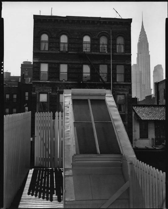 Brett Weston (American, 1911-1993) '[Skylight and fences, Midtown, New York]' c. 1945