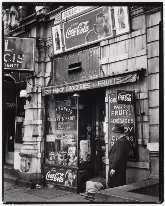 Brett Weston (American, 1911-1993) '[St. Francis Grocery & Fruit, New York]' c. 1945