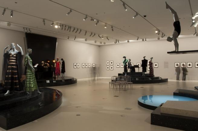 Installation photograph of the exhibition 'Edward Steichen & Art Deco Fashion' at NGV International