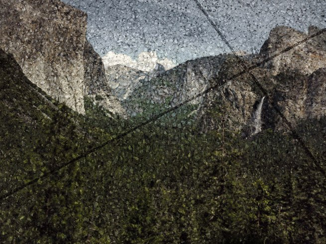 Abelardo Morell (American, born Cuba, 1948) 'Tent-Camera Image on Ground: View of the Yosemite Valley from Tunnel View' 2012