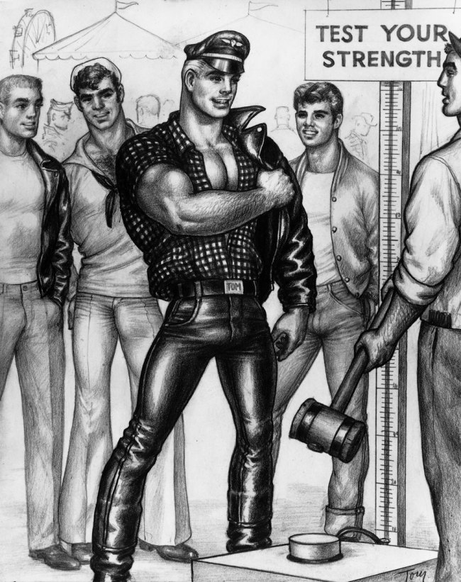 Tom of Finland (Touko Laaksonen, Finnish, 1920-1991) 'Untitled' (1 of 4 from 'Circus Life' series) 1961