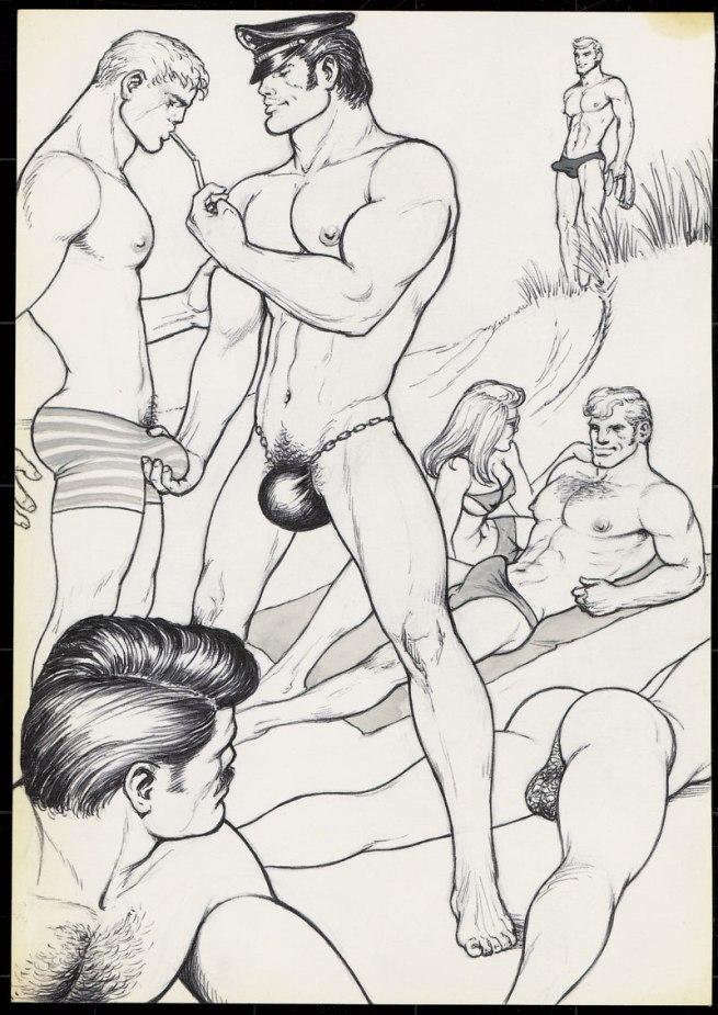Tom of Finland (Touko Laaksonen, Finnish, 1920-1991) 'Untitled' (From 'Beach Boy 2' story) 1971