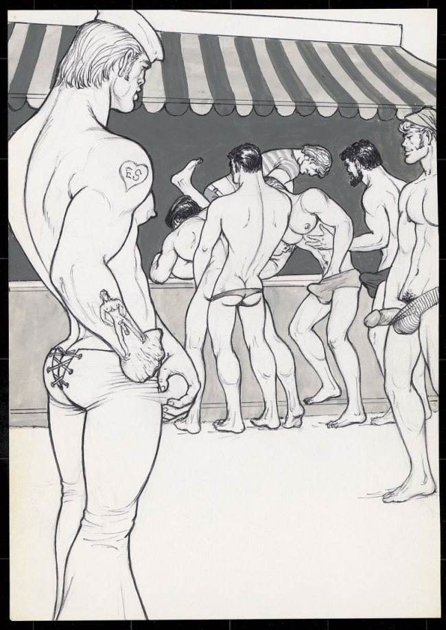 Tom of Finland (Touko Laaksonen, Finnish, 1920-1991) 'Untitled' (From 'Beach Boy 2' story) 197